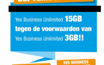 Septemberactie Yes Telecom