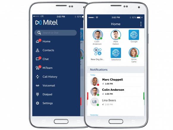 Vast mobiel integratie Mitel