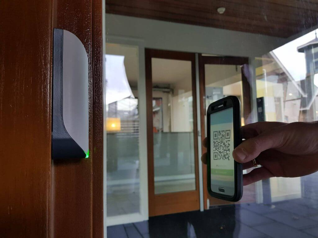 QR code telefoon toegangscontrole