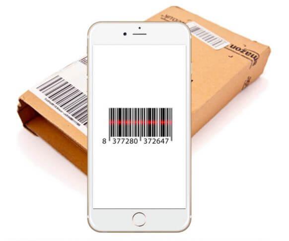 Mobiel met barcode