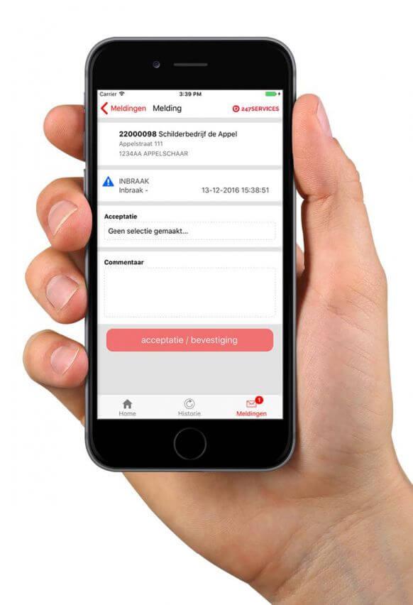 Mobiel met app