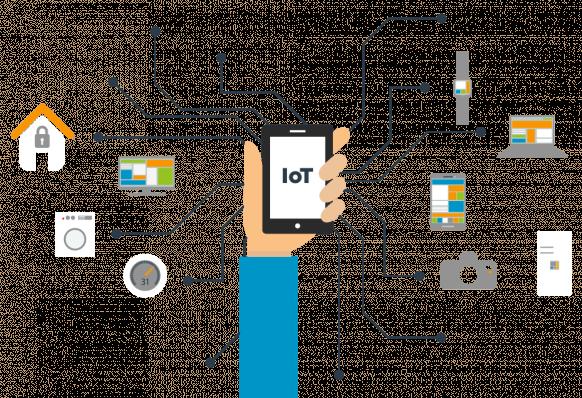 Mobiel met IoT elementen