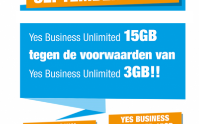 Septemberactie Yes Telecom