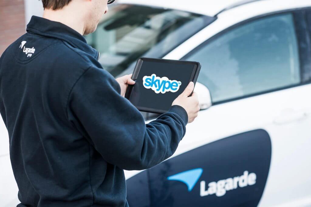 Skype op tablet