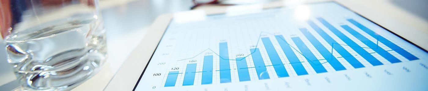 Data van een organisatie op een tablet