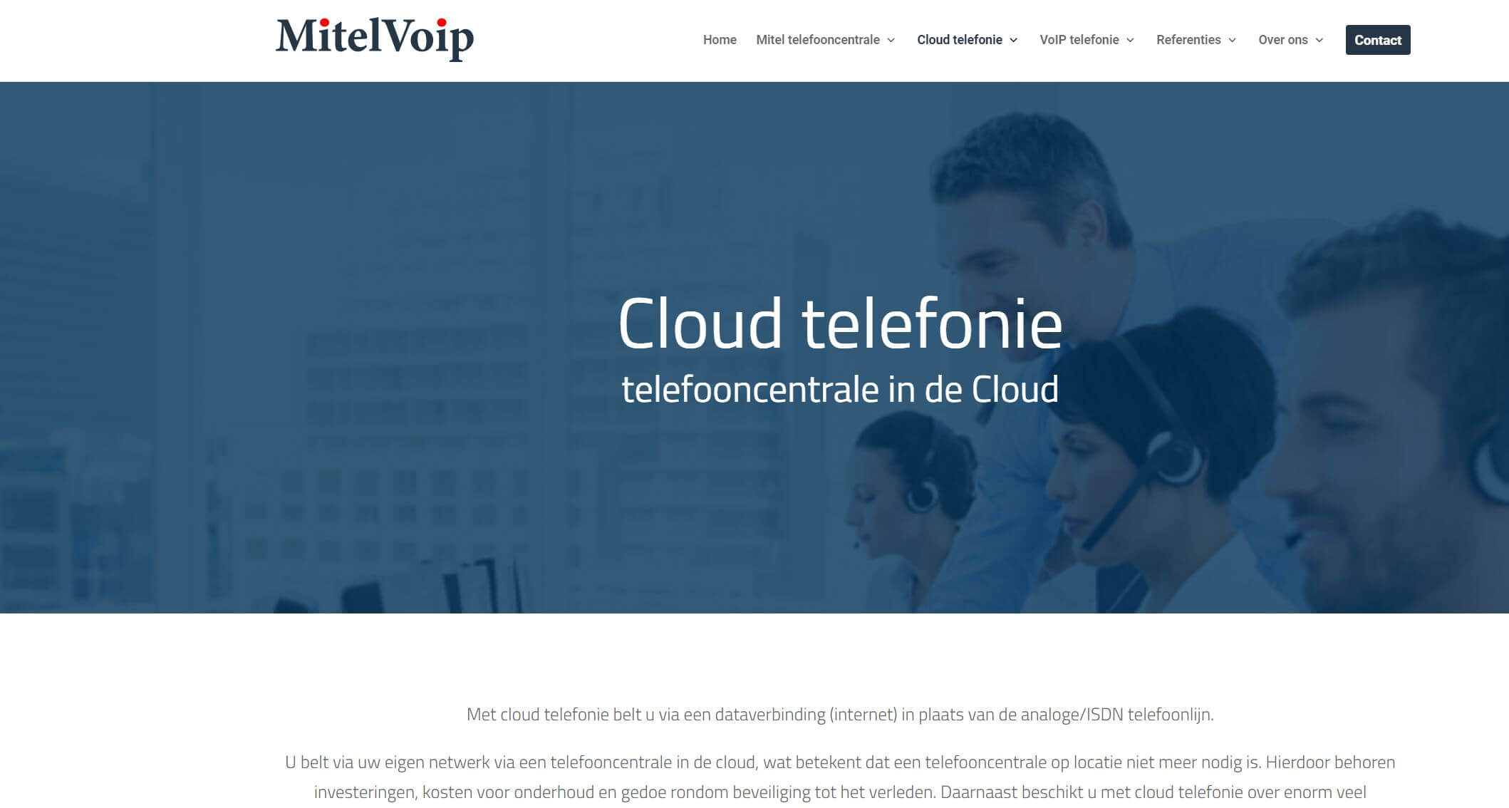 website mitelvoip.nl