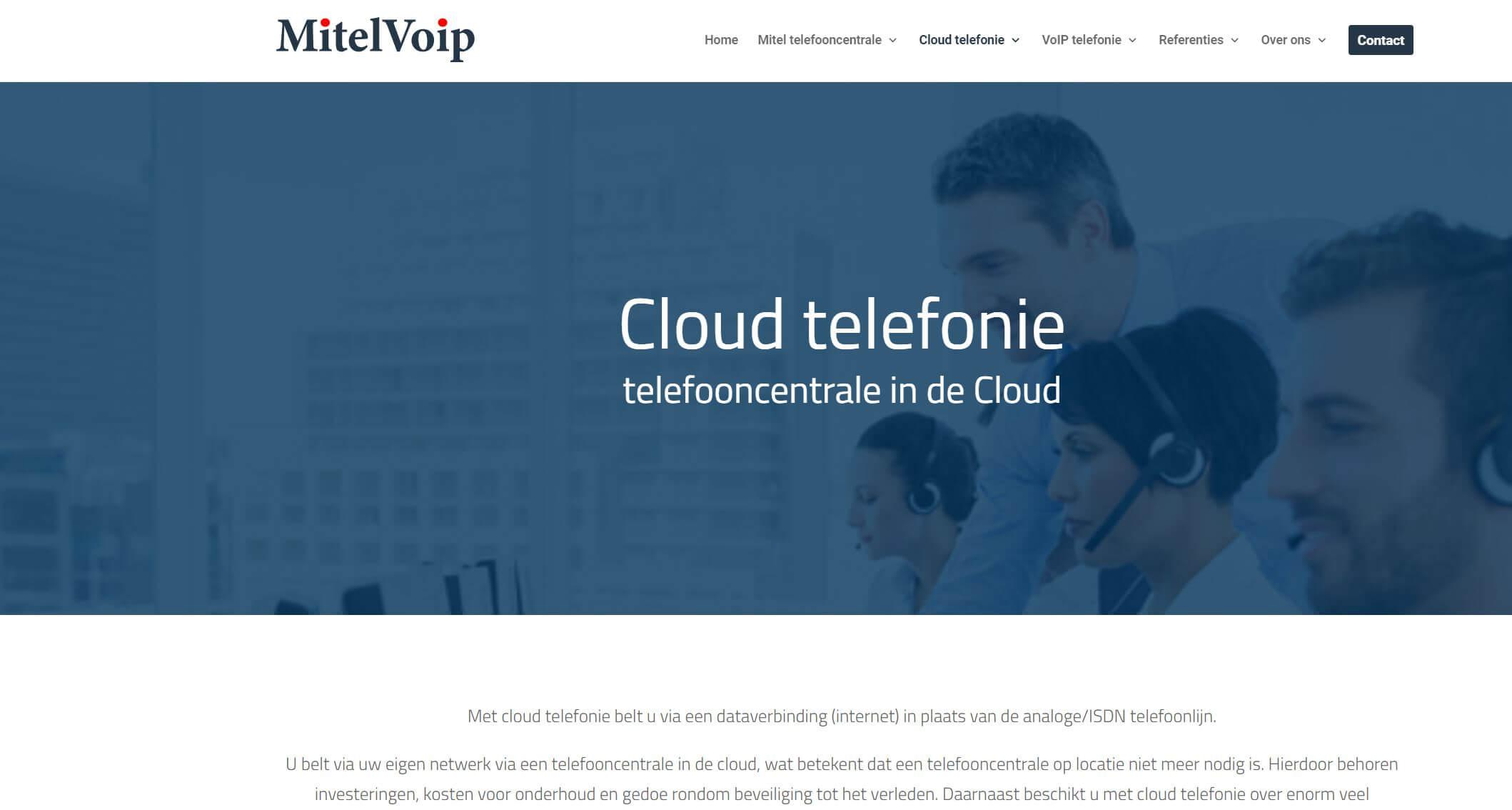 website mitelvoip.nl