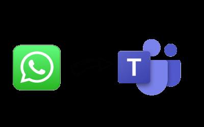 Van WhatsApp naar Microsoft Teams